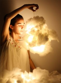 Cloud LED (incandescent) lights. Follow the 'source' link accompanying the picture in the link. - Nessa