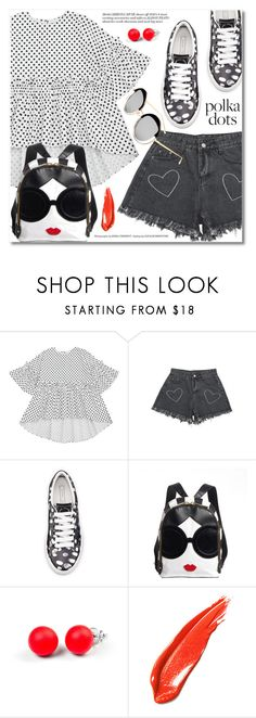 """So Dotty: Polka Dots"" by svijetlana ❤ liked on Polyvore featuring Marc Jacobs, Hring eftir hring, polkadot and zaful"