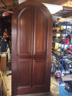 New Solid Wood Oak Arched Top 2 1 4 Thick Entry Door 42 034 X96 034 X2 1 4 034 Entry Doors Arched Entry Doors Mahogany Doors