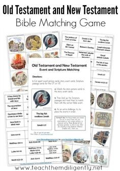 OT and NT Bible Matching Game - TTD