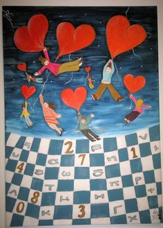 Θέλοντας να ζωγραφήσω έναν πίνακα για την υποδοχή κέντρου ειδικής αγωγής επέλεξα στοιχεία από έναν πίνακα της χαρισματικής ζωγράφου Αlessandra Placucci και βάζοντας τις δικές μου πινελιές το αποτέλεσμα αυτο. Ας γίνει η μάθηση χαρά λοιπον... Facebook Sign Up, Kids Rugs, Artwork, Painting, Work Of Art, Kid Friendly Rugs, Auguste Rodin Artwork, Painting Art, Artworks