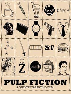 Pulp Fiction Tarantino Iconic Poster