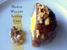 Maple Walnut Scotch Eggs 6 hard-boiled eggs 24 oz ground pork sausage (the good stuff!) 2 TBSP pure maple syrup cup chopped walnuts, plus a couple tablespoons extra for garnish Breakfast On The Go, Paleo Breakfast, Breakfast Recipes, Breakfast Ideas, Egg Recipes, Paleo Recipes, Syrup Recipes, Paleo Food, Scotch Eggs Recipe