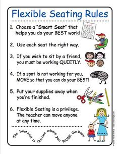 FREEBIE! Flexible Seating Rules from HeidiSongs