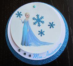 Un carton d'invitation original et gratuit pour un anniversaire de la Reine des neiges                                                                                                                                                                                 Plus