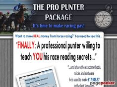 The Pro Punter Package - Horse Racing Software