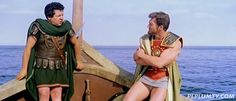 Fernando Sancho and Brad Harris (as Goliath) talk about strategies in GOLIATH AGAINST THE GIANTS (1961)