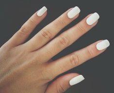 Plain white nails