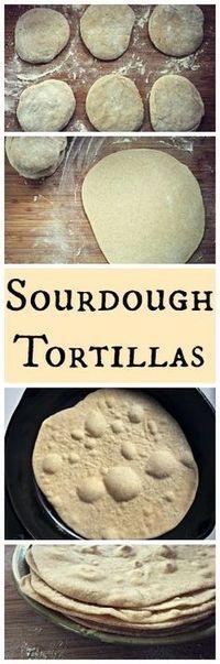 How to Make Sourdough Tortillas~ Easy, healthy and homemade! How to Make Sourdough Tortillas~ Easy, healthy and homemade! Sourdough Recipes, Sourdough Bread, Bread Recipes, Cooking Recipes, Starter Recipes, Naan, Tostadas, Tacos, Tortilla Wraps