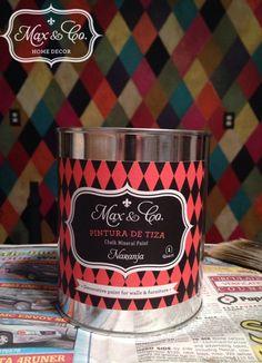#Chalk Paint ...Pintura de Tiza, #Annie Sloan, CeCe Caldwell, #Maison Blanche, Van Gogh.   Try me out!!! #Whimsy Design, funky furniture, #Harlequin Design.  Pintura de Tiza (Chalk Mineral Paint),  Naranja, https://www.facebook.com/maxandcompany