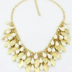 CREAM AND GOLD STATEMENT NECKLACE Cream and gold statement necklace Boutique  Jewelry Necklaces