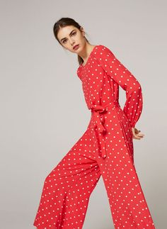 Uterqüe United Kingdom Product Page - Ready to wear - View all - Polka dot silk jumpsuit - 145