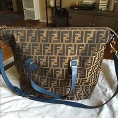 "Authentic Fendi handbag This bag is flawless, no holes, no stains, looks new inside and out, comes with original dustbag....bag can be worn 2 different ways with a detachable long strap ...measurements are 17'13""7 ...short strap is 7 inches, long strap is 15 inches and can be made shorter FENDI Bags Crossbody Bags"