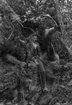 funeral-wreaths:    Eerie photograph taken in the Bohemian Grove, California, date unknown.