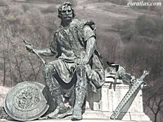 A statue of the first King of Italy. Odoacer, who overthrew the last Emperor of the Western Roman Empire.