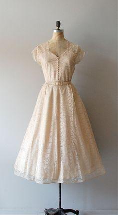 vintage 1940s Champagne Toast lace dress | http://www.etsy.com/listing/98502551/1940s-dress-40s-lace-dress-wedding-dress