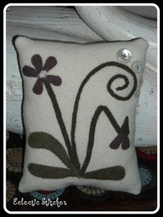Spring Violet Wool Pillow (design by Maggie Bonanomi)