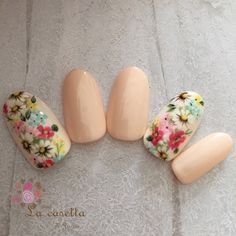#La_casetta Cute Nail Art, Beautiful Nail Art, Cute Nails, Pretty Nails, Sunflower Nail Art, Sculpted Gel Nails, Animal Nail Art, Stick On Nails, Spring Nail Art