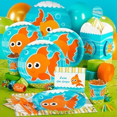 A fish party.  I like the idea for a baby or toddler boy.