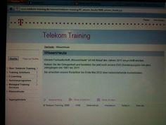 """Unter der Firmierung """"Deutsche Telekom Training GmbH"""" durfte ich dann bis Ende Juni 2010 an denselben Themen weiterarbeiten wie vorher auch. Eines meiner """"Vermarktungs-Babys"""", die IT/TK-Fachzeitschrift """"WissenHeute"""" wurde allerdings Ende 2011 eingestellt, wie der Screenshot zeigt :-(  Da ich mich ab 2008 immer mehr auf die Marketingaufgaben für die Telekom Tagungshotels konzentriert habe, war für mich klar: Als die Tagungshotels sich im Juli 2010 von der TT GmbH abgespaltet haben, bin ich…"""