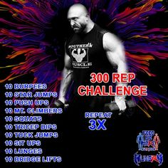 Master the Ryback 300 Rep Challenge! Let us help you with premium supplements like PumpPlex preworkout formula. Check out the natural ingredients here. #supplements #preworkout #workout #cardio #conditioning #gym #home #life #healthy #health #exercise #fitness #fit #diy Workout Drinks, Sit Ups, Beta Alanine, Star Wars, Health Exercise, Sore Muscles, Physical Activities, Stevia, Conditioning