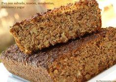 Pan con salvado, nueces, zanahorias, manzana y yogur - MisThermorecetas.com