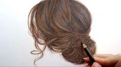 Tuto : Comment colorier des cheveux en brun aux crayons de couleur ?
