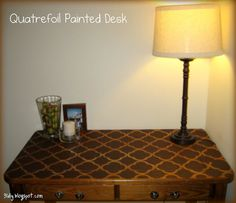 DIY Quatrefoil Painted Desk tutorial