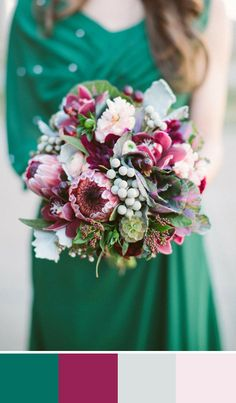 Green with Envy: 5 Emerald Green Color Palettes for your Wedding Day - Jewel Tones