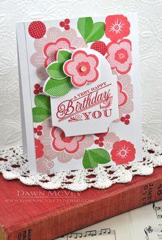 Birthday Flowers Card by Dawn McVey for Papertrey Ink (May 2013)