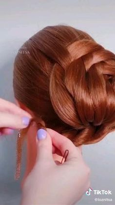 Hair Up Styles, Bun Hairstyles For Long Hair, Braided Hairstyles, Hair Videos, Hair Designs, Hair Hacks, Bridal Hair, Grunge Nails, Mens Hair
