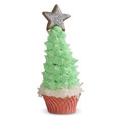 Christmas Tree Cupcakes that everyone can enjoy. #HealthierHolidays