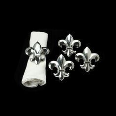 French Lily Napkin Rings-Set/4 from Arthur Court in Gainesvile, FL from Kitchen & Spice
