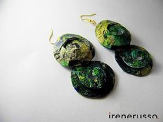 Irene Russo Accessorie #art #accessories #painting #handmade #vogue #earring #art #handmade #painting