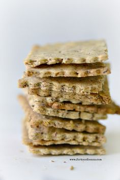 GF crackers-Very good recipe! I used a combination of oat flour, chickpea flour, brown rice flour, and arrowroot starch, and used chives instead of rosemary
