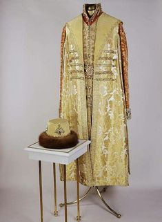 """The costume of Tsar Nicholas ll of Russia for the 1903 Ball at the Winter Palace. """"AL"""""""