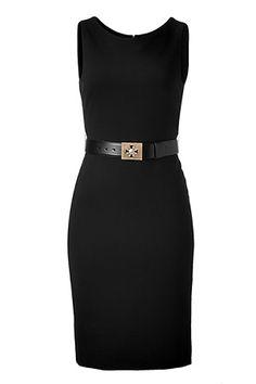 VERSACE  Black Sheath Dress