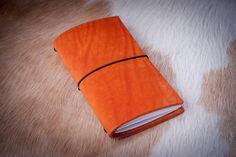 Midori travelers notebook 'Sun Flame', personalized leather journal, fauxdori cover, Midori travelers notebook cover, travelers notebook,