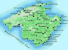 mallorca+spain+map | Mallorca Spain
