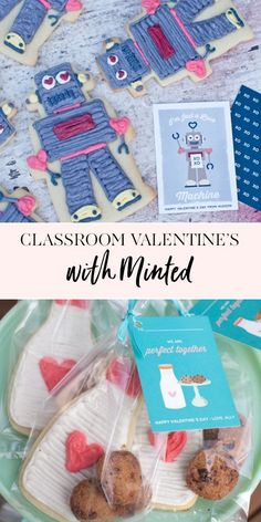 Classroom Valentines |It's that time of year! Time for school Valentine's Day parties! I added a little something extra to their cards, coordinating sugar cookies packaged up in cello bags and tied with ribbon. My kids were so excited to pass them out! || JennyCookies.com #valentinesdayparty #diyvalentines #valentinesday #jennycookies Valentines Day Food, Valentine Cookies, Valentine Day Love, Party Food For Adults, Kids Party Themes, Party Ideas, Classroom Valentine Cards, Valentine Activities, Jenny Cookies
