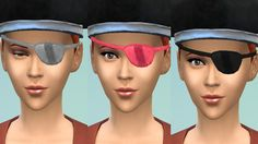 Mod The Sims - Unisex pirate eyepatch conversion