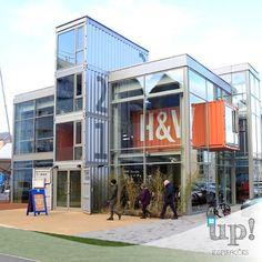 Sempre a loja mais moderna será a sua com nossas construções containers.