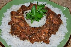Chef JD's Comfort Cuisine: Gizzards 'n' Gravy over rice with salt & pepper oi...