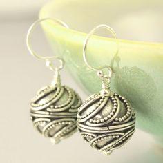 Bali Inspired Sterling silver dangle earrings