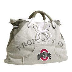NCAA Ohio State University-Buckeyes Hoodie Tote by Pro-FAN-ity by Littlearth. $24.89. Pro-FAN-ity by Littlearth offers you the authentic feel of your favorite sweatshirt in their Officially Licensed Hoodie Tote. These purses take the authentic look and feel of your favorite team sweatshirt and craft them into purses that will give you that Saturday night style, even when you're heading off to the Sunday afternoon game. Vintage detailing and decorative lacing are just a few o...