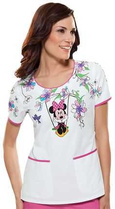 22 Best Mickey Mouse Scrub Tops Images Medical Scrubs