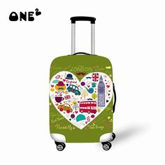 Fashion World/City/Christmas/ Design Luggage Covers Elastic Travel Suitcase Trolley Dustproof Protector Cover Luggage Cover, Travel Luggage, Travel Bags, University High School, Luggage Labels, Kids Meal Plan, Trolley, Kid Friendly Dinner, World Cities