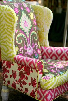 Fun upholstery mix