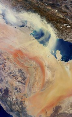Space in Images - 2008 - 07 - Persian Gulf sandstorm