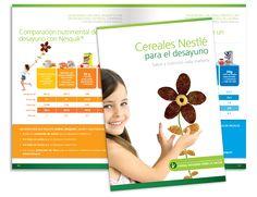 Diseño editorial - Stop Diseño Gráfico - Diseño de Folleto de información nutricional de Nesquik, para Nestlé Chile.